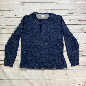 Gap Blue Henley Shirt Size M